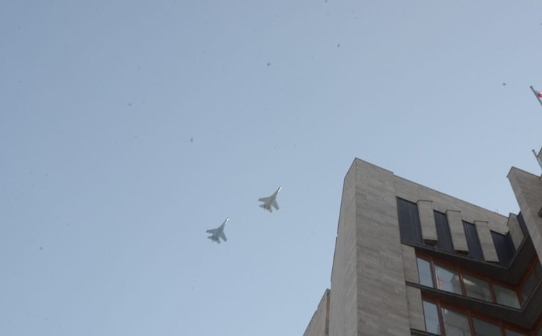 Ukrainian airforce in Donetsk