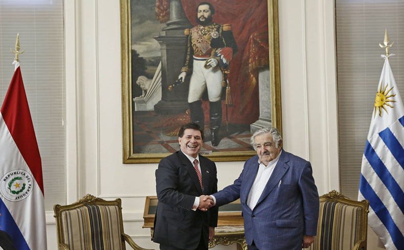 Jose Mujica en Paraguay.