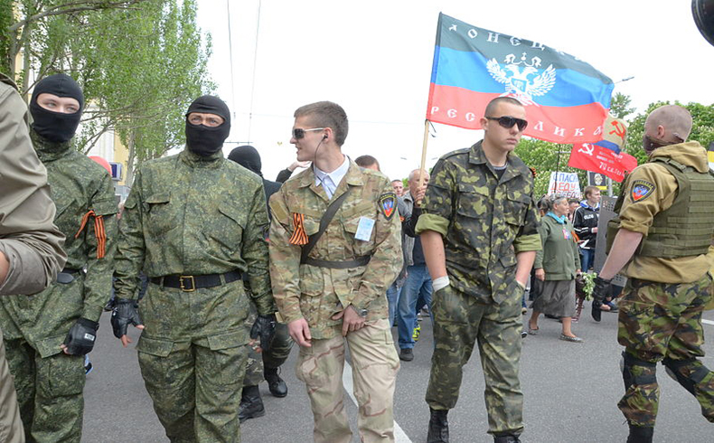Insurgents in Donetsk