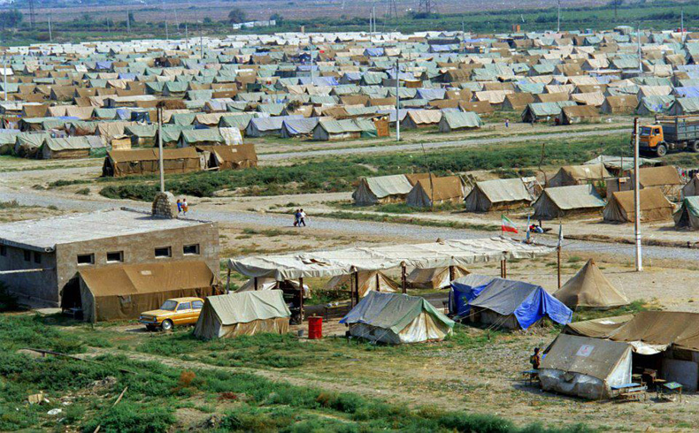 Refugee camp in Azerbaijan