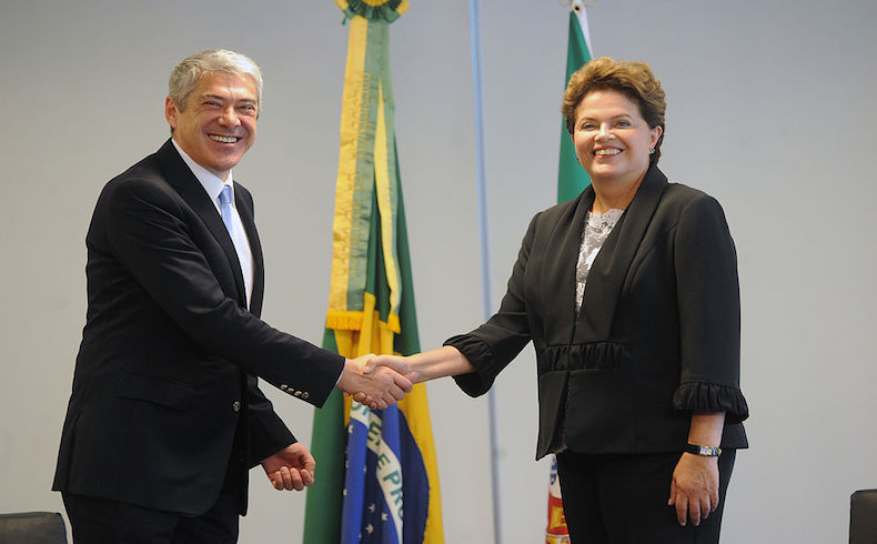 Dilma Rousseff and Jose Socrates