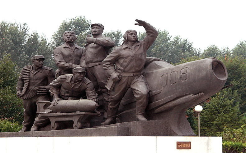 North Korean soldiers monument
