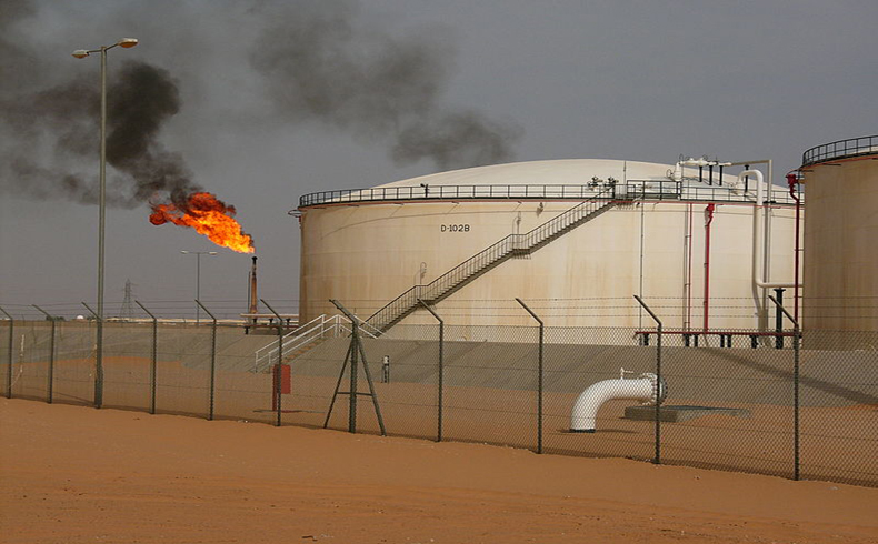 Oil field refinery Libya