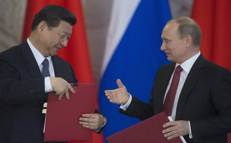 Vladimir Putin meets with Xi Jinping