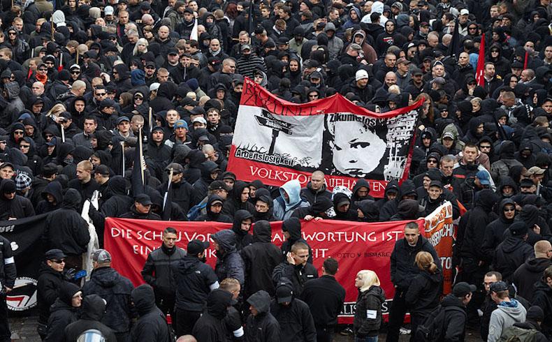 Nationale Sozialisten,Demonstration,Recht auf Zukunft,Leipzig,17. Oktober 2009