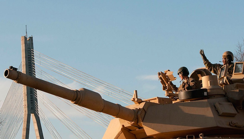 American tank Riga