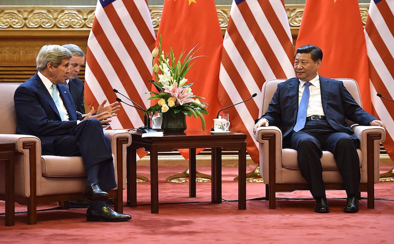 Kerry and Xi Jinping