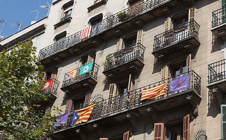 Catalonia independence buildings