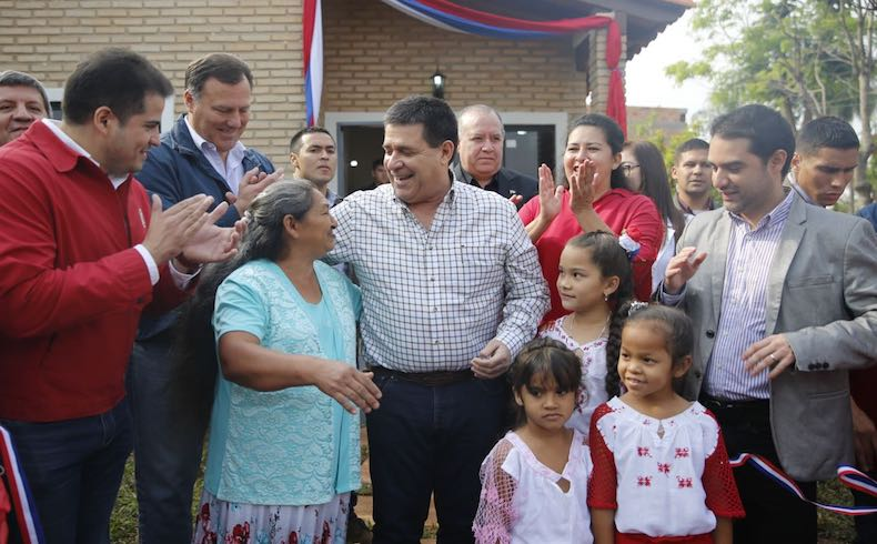 President Horacio Cartes in Alto Parana. Sept. 2017.