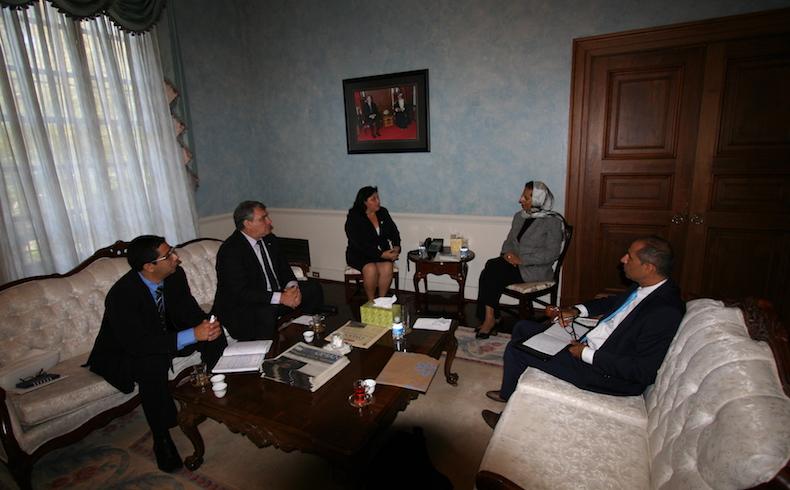 Esmerita Sanchez with Ambassador of Oman in Washington DC in September 2015. photo 1.