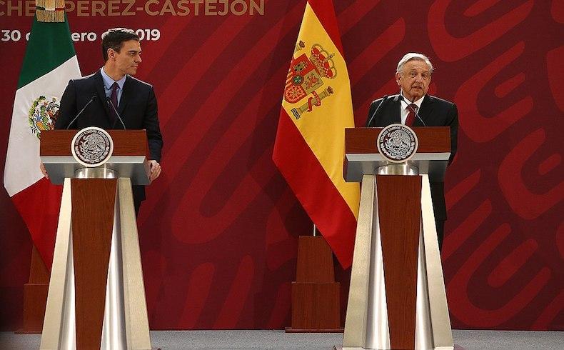 Obrador con Sanchez