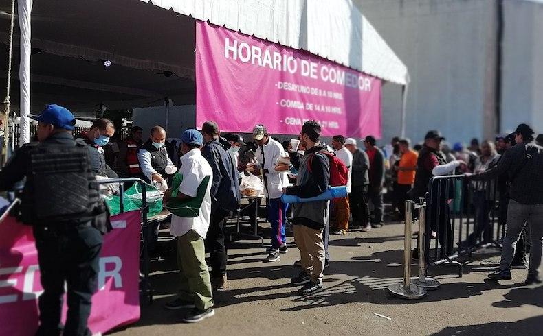 Caravana migrante en la Ciudad de México.